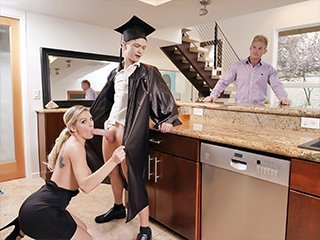 Kenzie Taylor Cap And Gown Dick Down